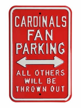 Cardinals / Thrown Out Parking Sign