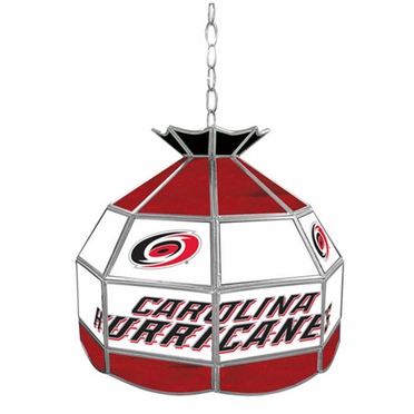 Carolina Hurricanes 16 Inch Diameter Stained Glass Pub Light