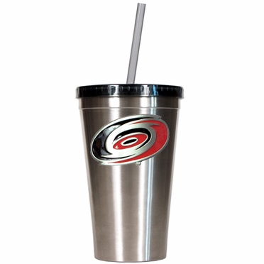 Carolina Hurricanes 16oz Stainless Steel Insulated Tumbler with Straw