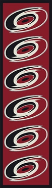 "Carolina Hurricanes 2'1"" x 7'8"" Premium Runner Rug"