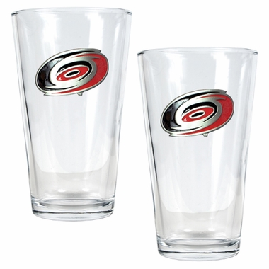 Carolina Hurricanes 2 Piece Pint Glass Set