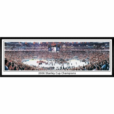 Carolina Hurricanes 2006 Stanley Cup Champions Framed Panoramic Print