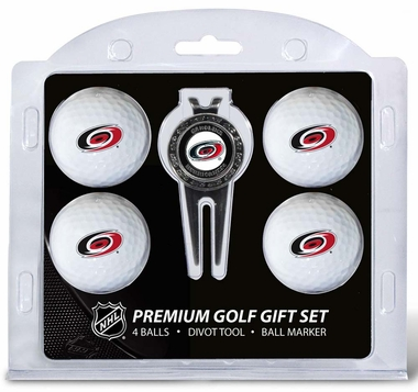Carolina Hurricanes 4 Ball and Divot Tool Set