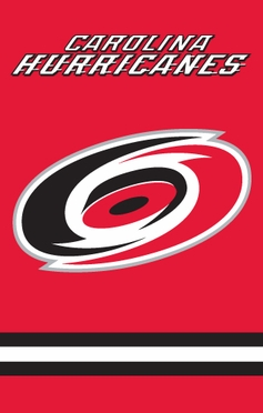 Carolina Hurricanes Applique Banner Flag