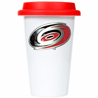 Carolina Hurricanes Ceramic Travel Cup (Team Color Lid)