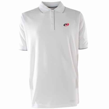Carolina Hurricanes Mens Elite Polo Shirt (Color: White)