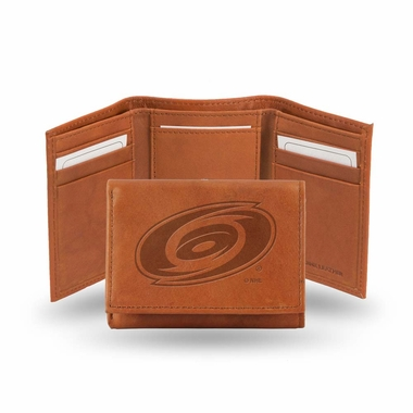 Carolina Hurricanes Embossed Leather Trifold Wallet
