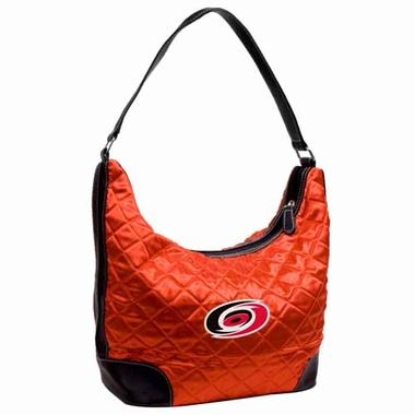 Carolina Hurricanes Quilted Hobo Purse