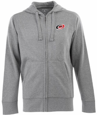 Carolina Hurricanes Mens Signature Full Zip Hooded Sweatshirt (Color: Gray)