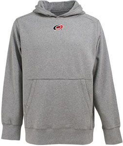 Carolina Hurricanes Mens Signature Hooded Sweatshirt (Color: Gray) - Small