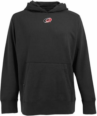 Carolina Hurricanes Mens Signature Hooded Sweatshirt (Team Color: Black)