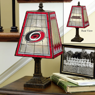 Carolina Hurricanes Small Art Glass Lamp