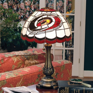 Carolina Hurricanes Stained Glass Table Lamp