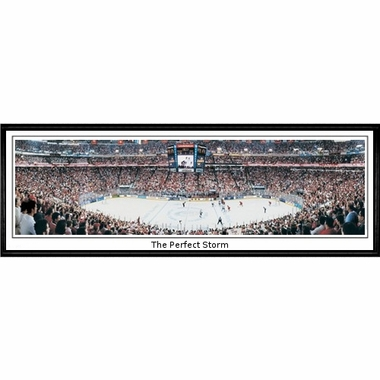 Carolina Hurricanes The Perfect Storm Framed Panoramic Print