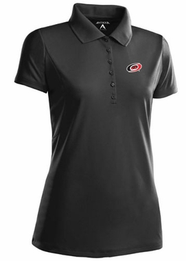 Carolina Hurricanes Womens Pique Xtra Lite Polo Shirt (Color: Black)