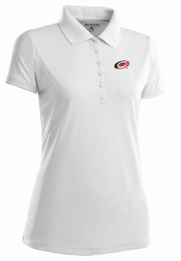 Carolina Hurricanes Womens Pique Xtra Lite Polo Shirt (Color: White)