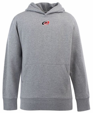 Carolina Hurricanes YOUTH Boys Signature Hooded Sweatshirt (Color: Gray)