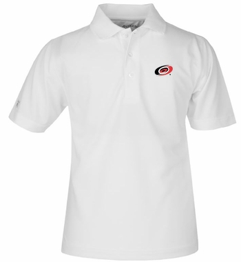 Carolina Hurricanes YOUTH Unisex Pique Polo Shirt (Color: White)