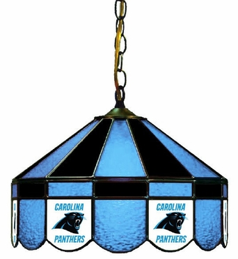 Carolina Panthers 16 Inch Diameter Stained Glass Pub Light