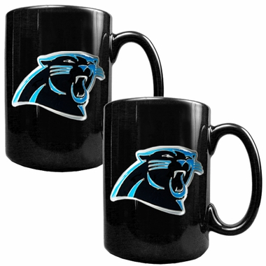 Carolina Panthers 2 Piece Coffee Mug Set