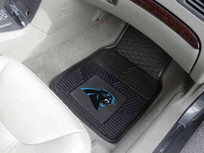 Carolina Panthers 2 Piece Heavy Duty Vinyl Car Mats