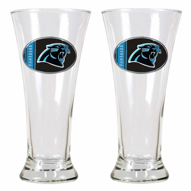 Carolina Panthers 2 Piece Pilsner Glass Set