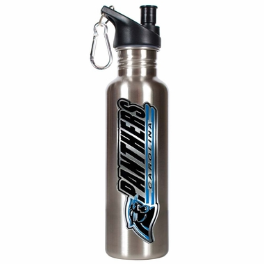 Carolina Panthers 26oz Stainless Steel Water Bottle (Silver)