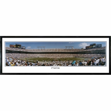 Carolina Panthers 47 Yard Line Framed Panoramic Print