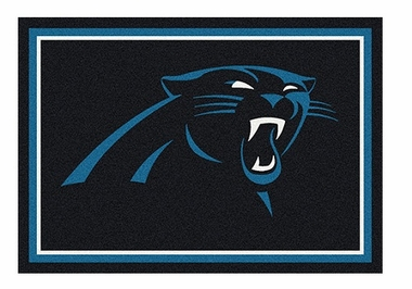 "Carolina Panthers 5'4"" x 7'8"" Premium Spirit Rug"