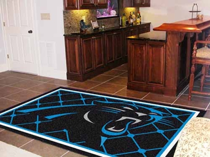Carolina Panthers 5 Foot x 8 Foot Rug