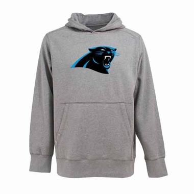 Carolina Panthers Big Logo Mens Signature Hooded Sweatshirt (Color: Gray)