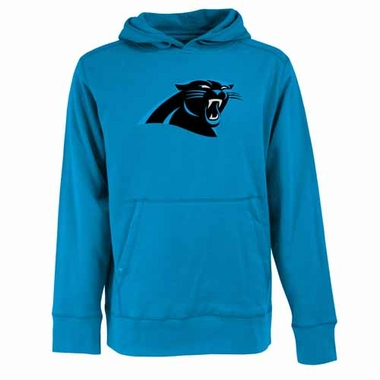 Carolina Panthers Big Logo Mens Signature Hooded Sweatshirt (Team Color: Aqua)