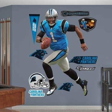 Carolina Panthers Cam Newton Blue Fathead Wall Graphic