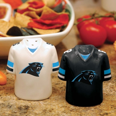 Carolina Panthers Ceramic Jersey Salt and Pepper Shakers