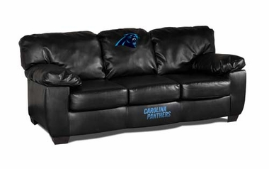 Carolina Panthers Leather Classic Sofa
