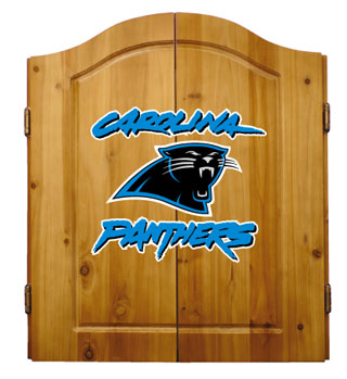 Carolina Panthers Complete Dart Cabinet