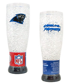 Carolina Panthers Crystal Pilsner Glass