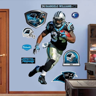Carolina Panthers DeAngelo Williams Fathead Wall Graphic