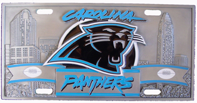Carolina Panthers Deluxe Collector's License Plate