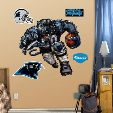 Carolina Panthers Die Cut RB Liquid Blue Fathead Wall Graphic