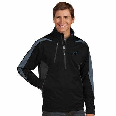 Carolina Panthers Mens Discover 1/4 Zip Pullover (Color: Black)