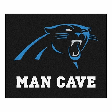 Carolina Panthers Economy 5 Foot x 6 Foot Man Cave Mat