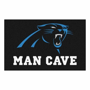 Carolina Panthers Economy 5 Foot x 8 Foot Man Cave Mat