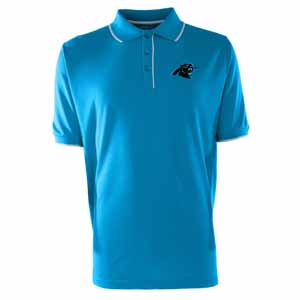 Carolina Panthers Mens Elite Polo Shirt (Color: Aqua) - Large