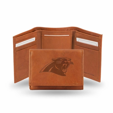 Carolina Panthers Embossed Leather Trifold Wallet