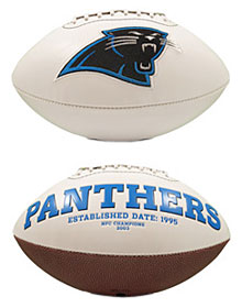 Carolina Panthers Full Size Embroidered Signature Series Football - Pre 2015 Champ