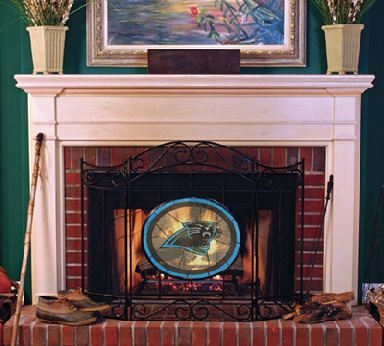 Carolina Panthers Fireplace Screen