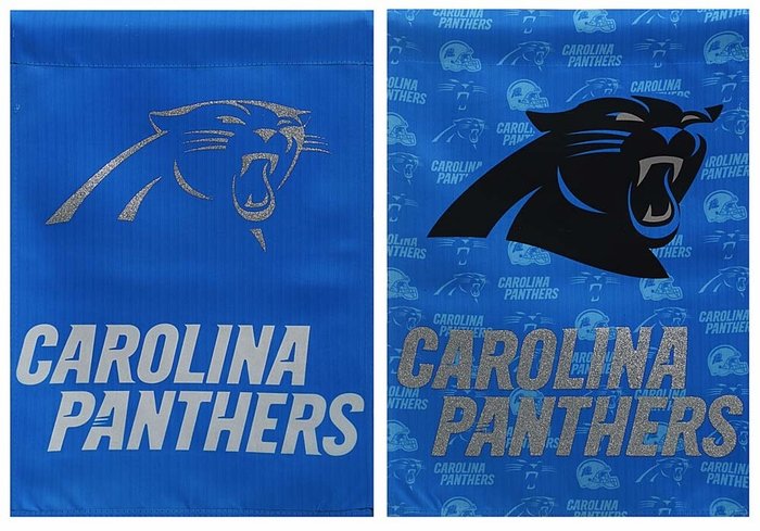 Panthers Glitter Garden Flag