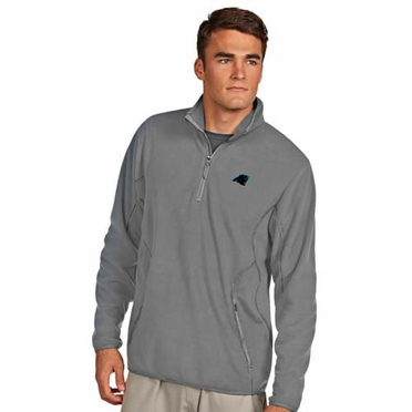 Carolina Panthers Mens Ice Polar Fleece Pullover (Color: Gray)