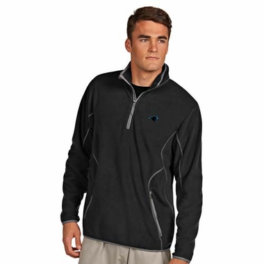 Carolina Panthers Mens Ice Polar Fleece Pullover (Team Color: Black)